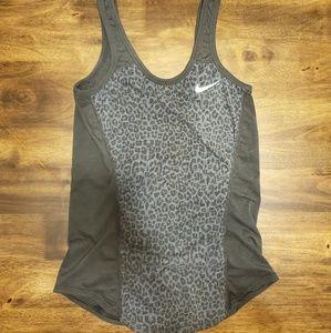 Nike dryfit grey leopard print tank